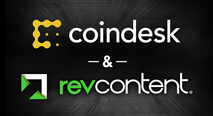 Coindesk Bitcoin Crypto currency Revcontent content recommendation native advertising traffic monetization