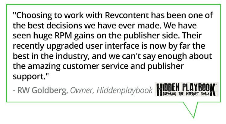 revcontent platform